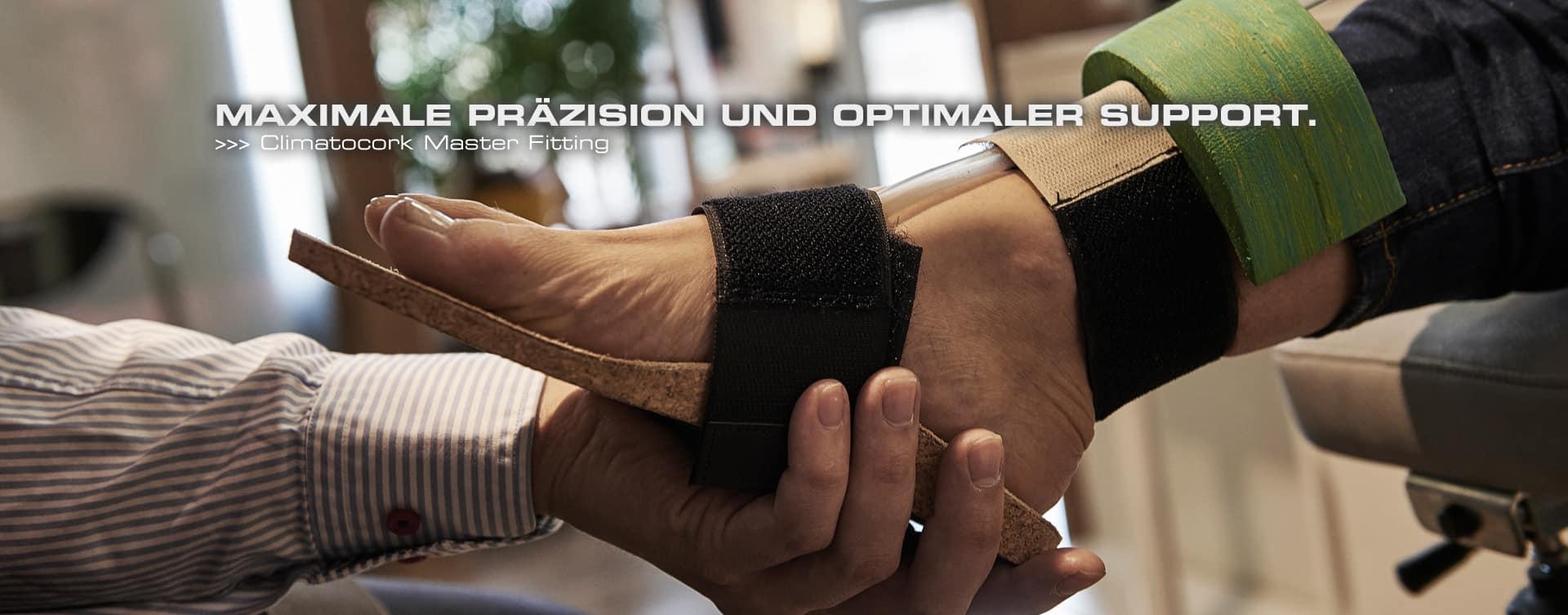 Optimaler Support und Tragekomfort für maximale Performance, gehen bei unserem Climatocork Master Fitting Hand in Hand.