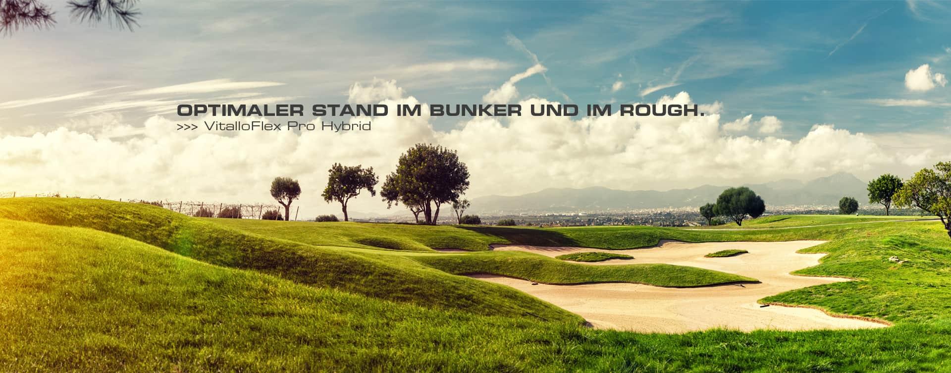 Erst die perfekte Balance des Körpers ermöglicht ein besseres Golfen. Der VitalloFlex Pro Hybrid ist die konsequente Umsetzung aller Bedürfnisse, die Fuß und Körper beim Golfsport an einen Schuh stellen und die Summe all unserer Erfahrungen in jedem Detail.